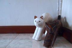 Statua del gatto Fotografie Stock