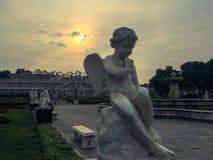 Statua del gesso dell'angelo Fotografia Stock
