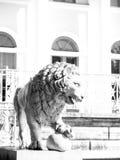 Statua del ghisa del leone Fotografia Stock Libera da Diritti
