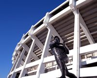 Statua del giocatore di baseball, Atlanta, U.S.A. immagini stock