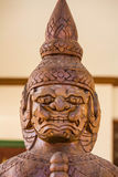 Statua del guardiano al tempio Fotografia Stock Libera da Diritti