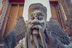 Statua del guardiano della pietra di Wat Pho Bangkok, Tailandia Immagine Stock