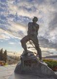 Statua del jalil di Mussa in kremlin, Kazan, Federazione Russa immagini stock libere da diritti