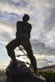 Statua del jalil di Mussa in kremlin, Kazan, Federazione Russa Fotografie Stock Libere da Diritti