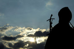 Statua del John Paul Ii del papà Immagine Stock