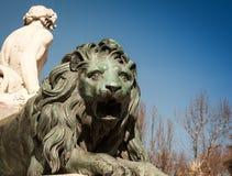 Statua del leone Fotografia Stock