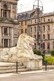 Statua del leone di Glasgow Immagini Stock Libere da Diritti
