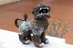 Statua del leone di lanna di Singha in Thailand-2 nordico fotografie stock libere da diritti