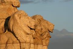 Statua del leone - santuario reale, Melbourne, Australia Fotografia Stock Libera da Diritti