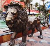 Statua del leone, supporto Abu, distretto di Sirohi, Ragiastan fotografia stock