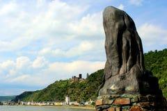 Statua del lorelei fotografia stock