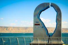 Statua del mare della Galilea Fotografie Stock