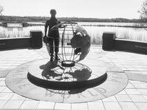 Statua del memoriale dell'erba medica del veterano Fotografie Stock