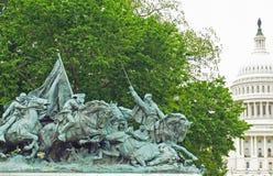 Statua del memoriale di guerra civile Immagine Stock
