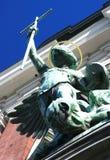 Statua del Michael del san (Amburgo, Germania) Fotografia Stock Libera da Diritti