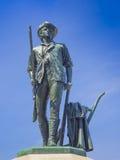 Statua del Minuteman, accordo, mA U.S.A. Immagine Stock Libera da Diritti
