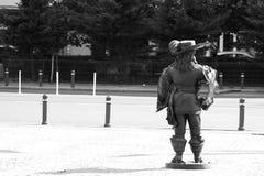Statua del moschettiere Fotografie Stock
