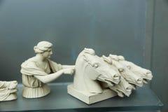Statua del museo dell'acropoli - Atene Grecia fotografia stock