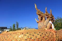 Statua del Naga al tempio Fotografia Stock