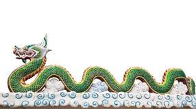 Statua del Naga in tempio tailandese Immagine Stock