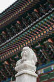 Statua del palazzo di Kyungbok a Seoul Fotografie Stock