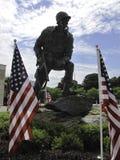 Statua del paracadutista fotografie stock