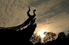 Statua del pavone al tramonto Fotografia Stock