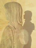 Statua del pellegrino Fotografia Stock Libera da Diritti