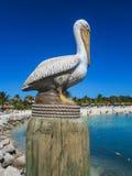 Statua del pellicano Fotografia Stock Libera da Diritti
