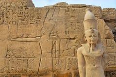 Statua del Pharaoh in Karnak Immagine Stock