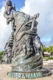 Statua del Playa del Carmen, Messico Fotografie Stock Libere da Diritti