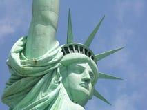 Statua del primo piano di libertà Fotografie Stock Libere da Diritti