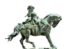 Statua del principe Eugene della Savoia a Budapest Immagini Stock Libere da Diritti
