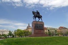 Statua del re Tomislav a Zagabria Immagine Stock