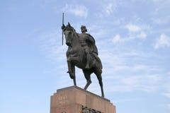Statua del re Tomislav a Zagabria Fotografia Stock