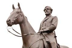Statua del Robert E. Lee a Gettysburg, isolato Fotografia Stock