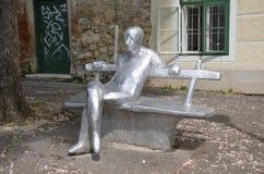 Statua del romanziere del croato del fameouse Immagine Stock Libera da Diritti