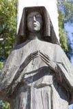 Statua del san Faustina sull'altare tre millenni, chiesa su Skalka, Cracovia, Polonia Fotografia Stock