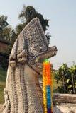 Statua del serpente al pratartlumpangluang di Wat, Lumpang Tailandia Fotografie Stock