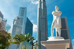 Statua del sir Raffles, Singapore Fotografia Stock