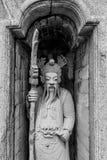 Statua del soldato cinese in tempio tailandese fotografia stock libera da diritti