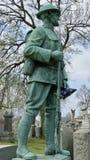 Statua del soldato di guerra mondiale una Fotografia Stock Libera da Diritti