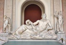 Statua del Tigris ai musei di Vatican Immagini Stock Libere da Diritti