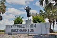 Statua del toro del bramano in Rockhampon, Queensland, Australia Immagini Stock Libere da Diritti