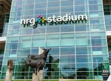 Statua del toro fuori dello stadio di NRG, Houston Fotografie Stock Libere da Diritti