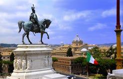 Statua del vincitore Emmanel II Fotografia Stock