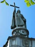 statua del vladimir del principe a Kiev Fotografie Stock