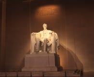 Statua del Washington DC di Abraham Lincoln Fotografia Stock Libera da Diritti