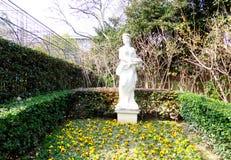 Statua dell'acciaio inossidabile della ragazza dell'oca di zootecnia Fotografia Stock