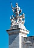 Statua dell'altare della patria Fotografia Stock